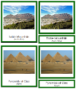 African Landmarks - Printable Montessori geography materials by Montessori Print Shop.