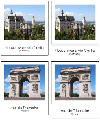 European Landmark Cards - printable Montessori geography materials by Montessori Print Shop