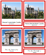 European Landmarks - Printable Montessori geography materials by Montessori Print Shop.