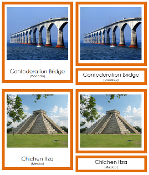 North American Landmarks- Montessori Print Shop geography Cards
