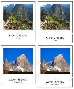 South American Landmark Cards - printable Montessori geography materials