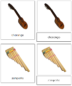 South American Instrument Cards - Printable Montessori geography materials by Montessori Print Shop.