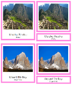 South American Landmarks - Printable Montessori geography materials by Montessori Print Shop.