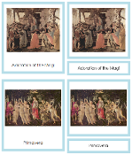 Sandro Botticelli Art Cards - Printable Montessori materials by Montessori Print Shop.