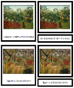 Henri Rousseau Art Cards - Printable Montessori materials by Montessori Print Shop.