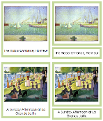 Georges Seurat Art Cards - Printable Montessori materials by Montessori Print Shop.