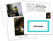Johannes Vermeer Art Book - Printable Montessori materials by Montessori Print Shop.