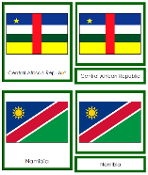 African Flags - Printable Montessori Geography Materials by Montessori Print Shop.
