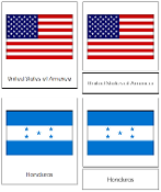 North American Flag Cards - Printable Montessori geography materials by Montessori Print Shop.
