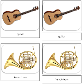 Musical Instruments Safari Toob Cards - Printable Montessori Toob Cards by Montessori Print Shop.