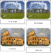 World Landmarks Safari Toob Cards - Printable Montessori Toob Cards by Montessori Print Shop.