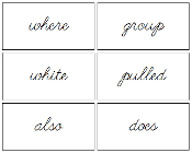 Puzzle Word Cards (cursive) - FREE Printable Montessori Language materials by Montessori Print Shop