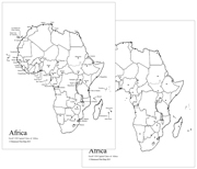 Africa Capital Cities Map - Printable Montessori geography materials by Montessori Print Shop.