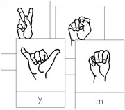American Sign Language Letter Cards - Printable Montessori materials by Montessori Print Shop.