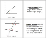The Study of Angles Book - Printable Montessori Geometry Materials by Montessori Print Shop.