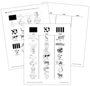 Animal Stripes, Spots, or Solid - Blackline Masters. Printable Montessori science materials by Montessori Print Shop.