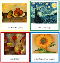 3-Part Art Cards - Printable Montessori materials by Montessori Print Shop