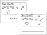 Australia State & Territory Flags: Outlines - Printable Montessori Geography materials by Montessori Print Shop.