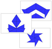 Blue Constructive Triangles: Design Cards - Printable Montessori Sensorial materials by Montessori Print Shop.