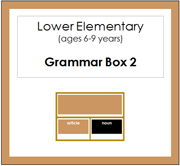 Elementary Grammar Box 2 Articles (Elementary Colors) - Printable Montessori materials by Montessori Print Shop.