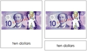 Canadian Currency - Printable Montessori materials by Montessori Print Shop.