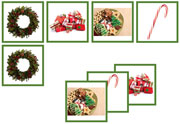 Christmas Matching Cards - Printable Montessori preschool materials by Montessori Print Shop.