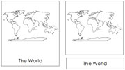 Continents of the World (no color) - Printable Montessori geography materials by Montessori Print Shop.