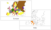 Europe Flashcards - Printable Montessori geography materials by Montessori Print Shop.