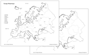 Europe Waterways Map - Printable Montessori geography materials by Montessori Print Shop.
