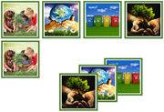 Earth Day Matching Cards - Printable Montessori preschool materials by Montessori Print Shop.