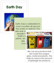 Earth Day Cards and Booklet - Printable Montessori celebration materials by Montessori Print Shop.