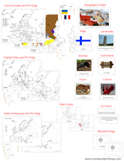Europe Deluxe Geography Bundle NCB - Printable Montessori Geography Materials by Montessori Print Shop.