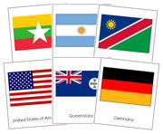 World Flags Bundle - Printable Montessori Geography Materials by Montessori Print Shop.