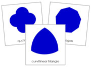 Geometric Shapes 3-Part Cards - Printable Montessori Math Materials by Montessori Print Shop.