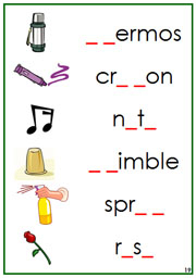 Green Phonogram Sound Cards - Printable Montessori Language materials by Montessori Print Shop