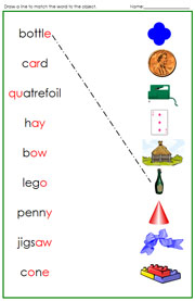 Green Phonogram Words and Pictures - Printable Montessori language materials by Montessori Print Shop.