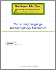 Elementary Homograph Key Experience & Materials - Printable Montessori materials by Montessori Print Shop.