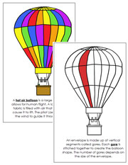 Hot Air Balloon Nomenclature Book (Red) - Printable Montessori Nomenclature Materials by Montessori Print Shop.
