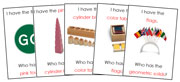 I Have, Who Has Game - Montessori Materials. Printable Montessori Sensorial materials by Montessori Print Shop.