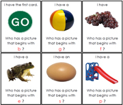 I have, Who has - Beginning Sounds. Printable Montessori Geography Materials by Montessori Print Shop.