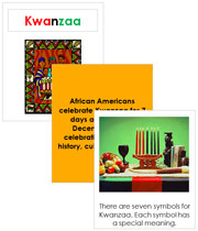 Kwanzaa Cards and Booklet - Printable Montessori celebration materials by Montessori Print Shop.