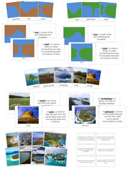 Land & Water Forms Bundle - Printable Montessori materials by Montessori Print Shop.