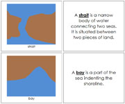 Land and Water Form Book (b/b) - Printable Montessori geography materials by Montessori Print Shop.