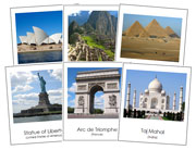 World Landmarks Bundle - Printable Montessori Geography Materials by Montessori Print Shop.
