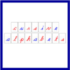 Printable Cursive Moveable Alphabets
