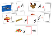 Moveable Alphabet Sound Cards for the Printable Cursive Montessori Moveable Alphabet (black/red) - Montessori Print Shop