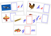 Moveable Alphabet Sound Cards for the Printable Cursive Montessori Moveable Alphabet (blue/red) - Montessori Print Shop