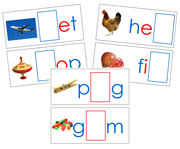 Moveable Alphabet Sound Cards for the Printable print Montessori Moveable Alphabet (blue/red) - Montessori Print Shop