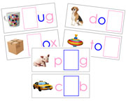Moveable Alphabet Sound Cards for the Printable print Montessori Moveable Alphabet (pink/blue) - Montessori Print Shop