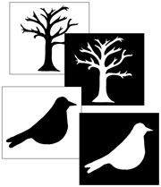 Silhouette Matching Cards - Printable Montessori Materials
